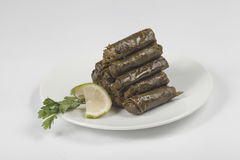 Reis-angefüllte Trauben-Blätter Stockfotos