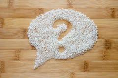 Reis auf Bambushintergrund Lizenzfreies Stockbild