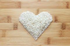 Reis auf Bambushintergrund Lizenzfreie Stockfotografie