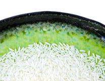 Reis auf Platte Stockfotografie
