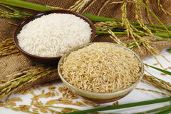 Reis auf Sack Stockbild