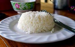 Reis auf Teller Lizenzfreies Stockfoto