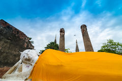 Reis in ayutthaya oude stad Stock Afbeelding