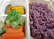 Reis-Beere mit Block-Kerry-Kürbis für niedriges Cholesterinlebensmittel Stockfotos