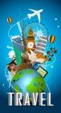 Reis beroemd monument van de wereld pictogram stock illustratie