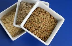 Reis, Bohnen und Körner Lizenzfreies Stockbild