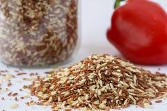 Reis, bulgarischer Pfeffer stockfotos