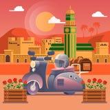 reis concept De reis in Marokko, studie van het land en zijn cultuur, tradities, gezichten, leert over de geschiedenis van contin Royalty-vrije Stock Fotografie