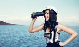 Reis, cruise, toerisme en avonturenconcept Stock Foto