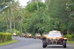 Reis de met fouten van het safariavontuur in Rarotonga Cook Islands stock afbeeldingen