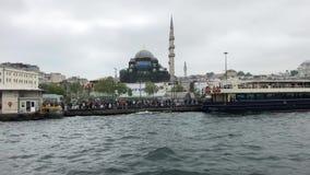 Reis in de Straat van Bosporus stock footage
