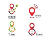 reis, de vector van de het pictogramillustratie van het reisbureauembleem vector illustratie