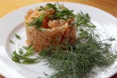 Reis in der ungarischen Art stockbild