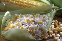 Reis des süßen Mais Stockfotografie