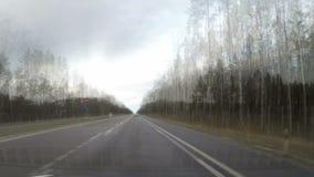 Reis door auto 200 kilometers, tijdoverlappingen 200 кm stock videobeelden