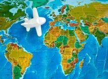 Reis door vliegtuig Stock Fotografie