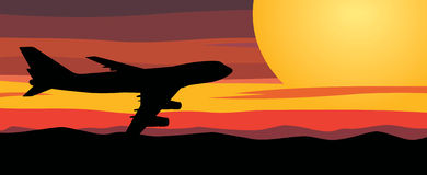 Reis door vliegtuig stock illustratie