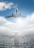 Reis door Vliegtuig Royalty-vrije Stock Afbeelding