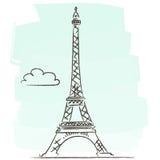 Reis Eiffel stock illustratie