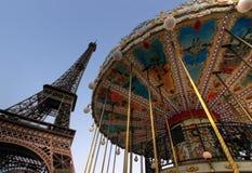 Reis Eiffel in Parijs Stock Foto