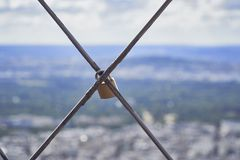 Reis Eiffel in Parijs frankrijk Stock Foto