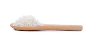 Reis in einem hölzernen Löffel Lizenzfreie Stockfotografie