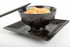 Reis in einer Schüssel Stockfotografie