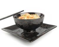 Reis in einer Schüssel Stockfoto