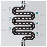 Reis en de Zaken Infographic van de Reisbaan stock illustratie