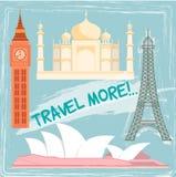 Reis en toerismeplaatsen Stock Foto