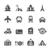 Reis en vakantie het pictogram plaatste 3, vectoreps10 Stock Foto's