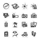 Reis en vakantie het pictogram plaatste 4, vectoreps10 Stock Foto
