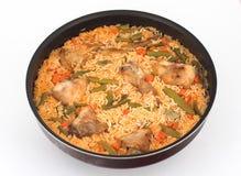 Reis, Gemüse und Kaninchen Lizenzfreie Stockfotos