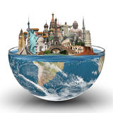 Reis het concept van wereldmonumenten Royalty-vrije Stock Foto's