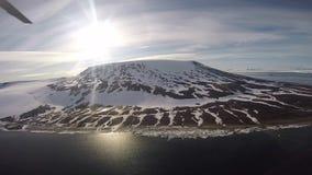 Reis in het ijs, Noordpool stock video