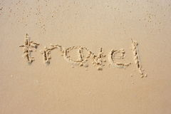 Reis in het zand Stock Fotografie