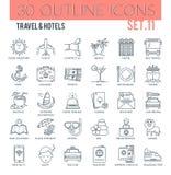 Reis & hotelspictogrammen Royalty-vrije Illustratie