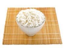 Reis im Schüsseljapanerschweinestall stockbilder