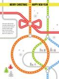 Reis in Kerstmis - vectorachtergrond Stock Fotografie
