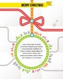 Reis in Kerstmis - vectorachtergrond Stock Foto's