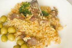 Reis, Lebensmittel, Abendessen, Teller, Küche, Kultur Stockbilder