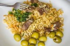 Reis, Lebensmittel, Abendessen, Teller, Küche, Kultur Lizenzfreie Stockfotos