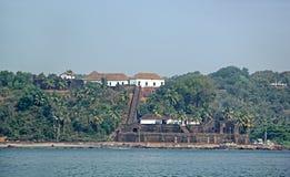 Reis Magos fort i Goa arkivbild