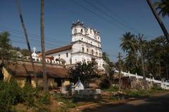 Reis Magos kyrka, Goa Arkivbild