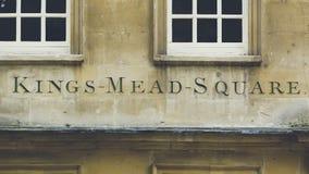 Reis Mead Square Carved na pedra fotografia de stock royalty free