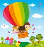 Reis met hete luchtballon Royalty-vrije Stock Foto's