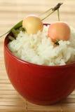 Reis mit Äpfeln lizenzfreie stockfotos