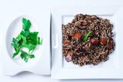 Reis mit calamary Lizenzfreies Stockbild