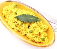 Reis mit Curry stockbilder