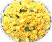 Reis mit Curry lizenzfreies stockbild